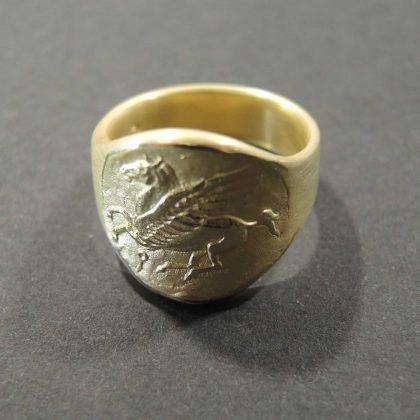 Ring – Pferd nach antiker Münze  Pegasus 345. - 307. Jahr v. Chr. Vintage Look